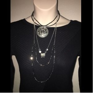 Express Necklace Silver in color Womens NWT $39.90